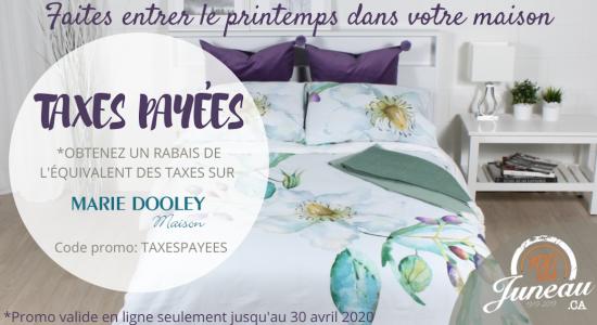 Juneau paye les taxes sur les produits Marie Dooley Maison | Juneau