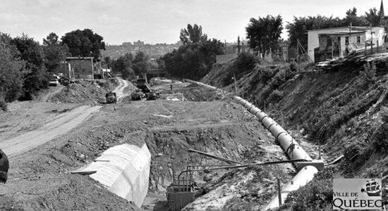 Canalisation de la Lairet. 2 juillet 1967.