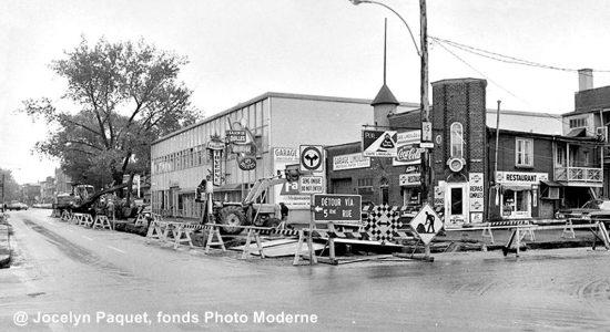 Limoilou dans les années 1960 (131): travaux sur la 4e Rue - Jean Cazes