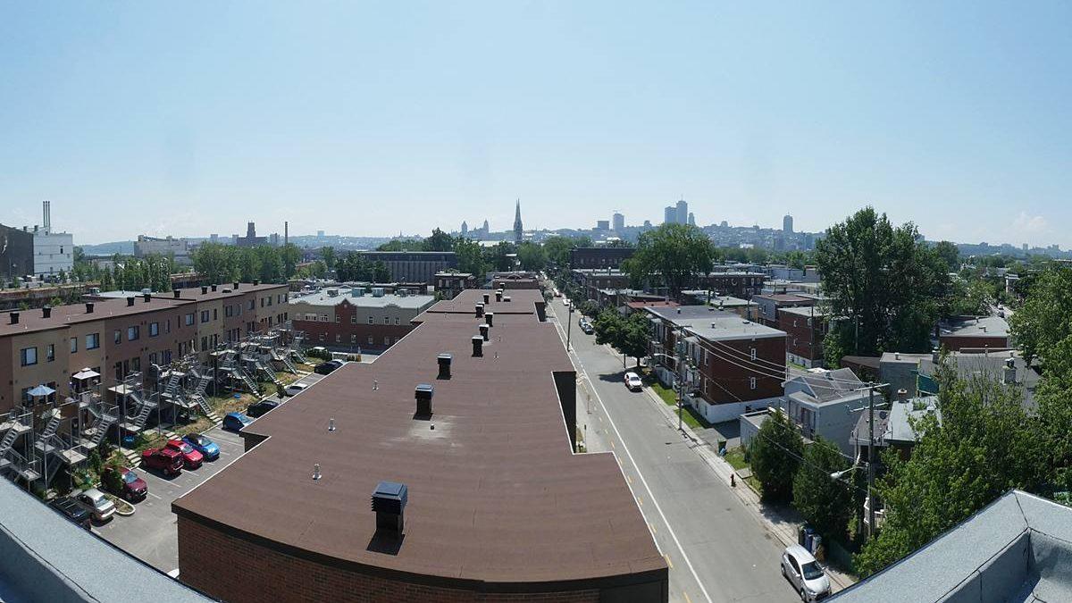 Îlot des Capucins, phase 3. Vue sur la ville à partir du toit-terrasse. 10 juillet 2020.