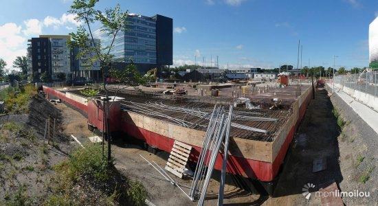 Vue du chantier en direction sud. 5 septembre 2020.