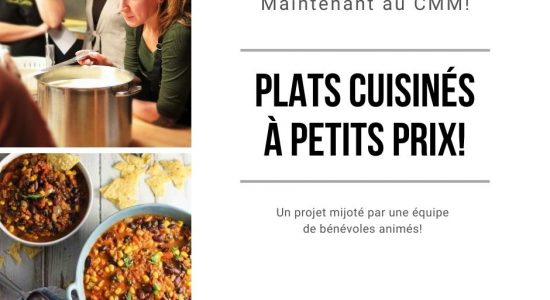 Plats cuisinés à petits prix | Centre Mgr Marcoux