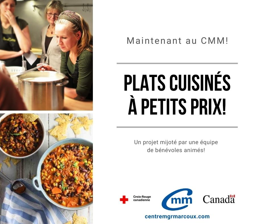 Plats cuisinés à petits prix   Centre Mgr Marcoux