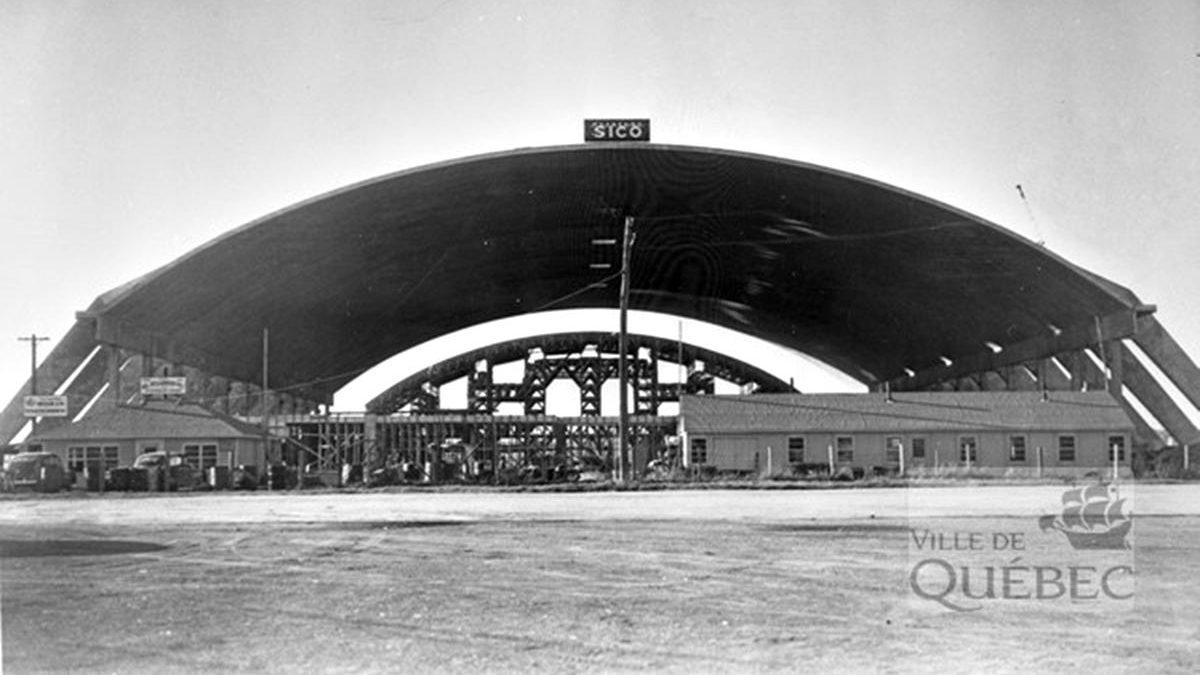 Le chantier en juillet 1949.
