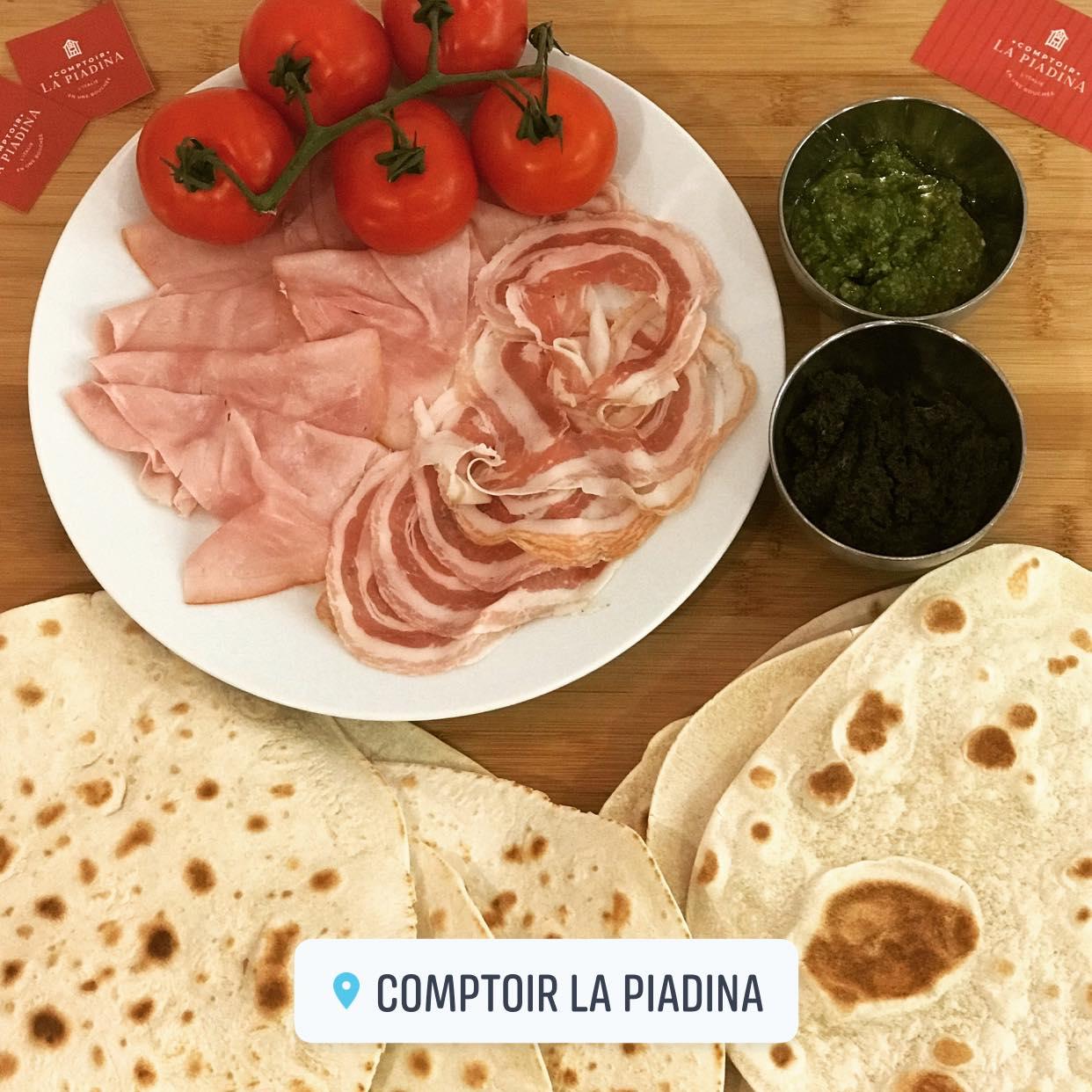 Piadina au pesto (végétérienne ou non)   Comptoir La Piadina