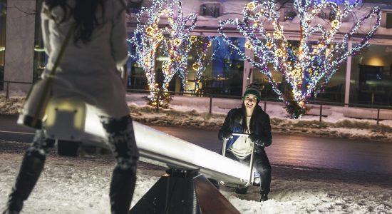 Des œuvres interactives à Place Jean-Béliveau - Julie Rheaume
