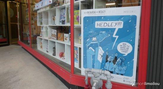 <em>À la recherche de Hedley</em> : une BD dans les vitrines de la 3e Avenue - Suzie Genest