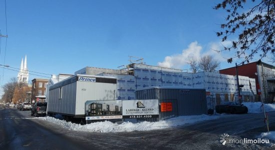 Le Hedleyville en construction. 6 janvier 2021.