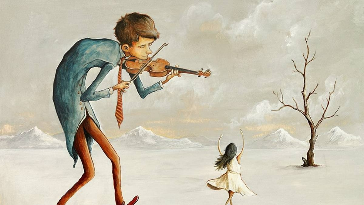 «La Danseuse», peinture acrylique sur bois, 2015.