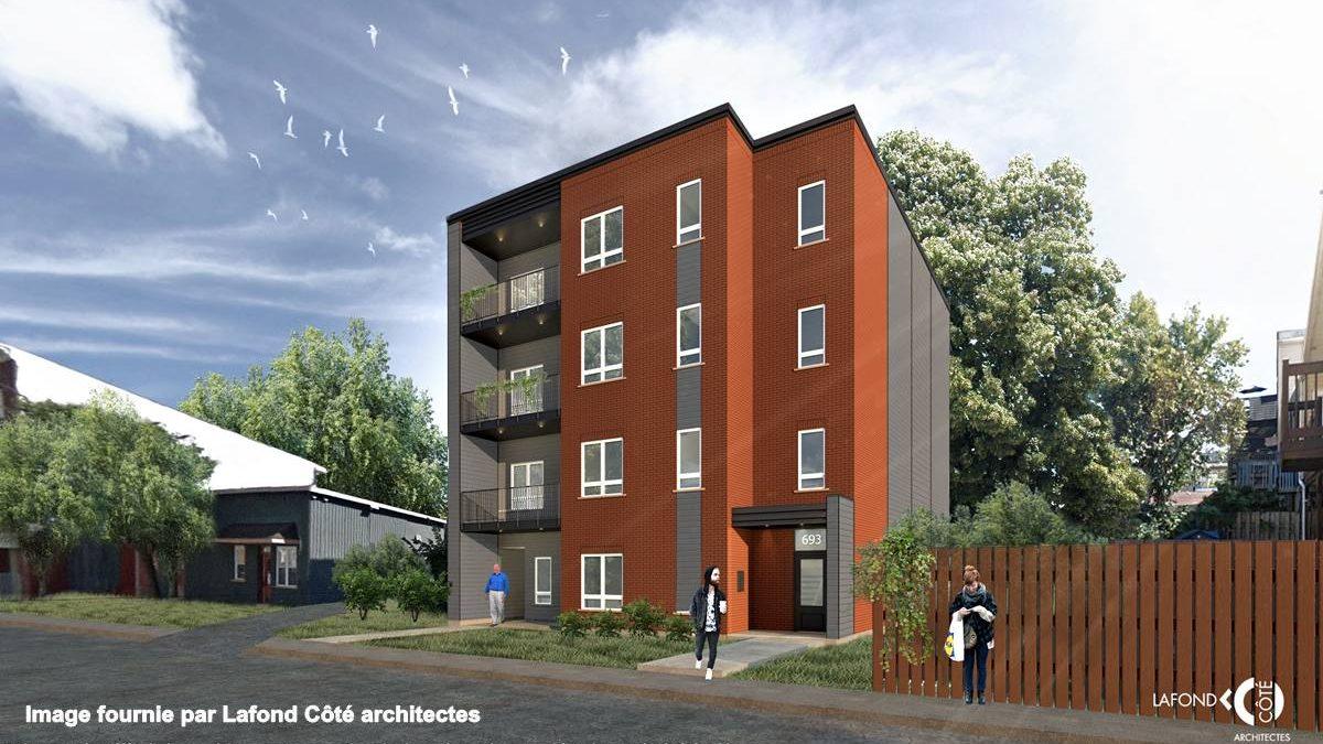 Modélisation du nouvel immeuble de la rue J.-A. Cauchon.