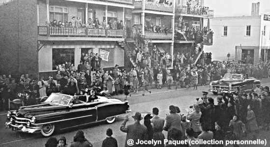 Limoilou dans les années 1950 (48) : accueil chaleureux au couple royal sur la 3e Avenue - Jean Cazes