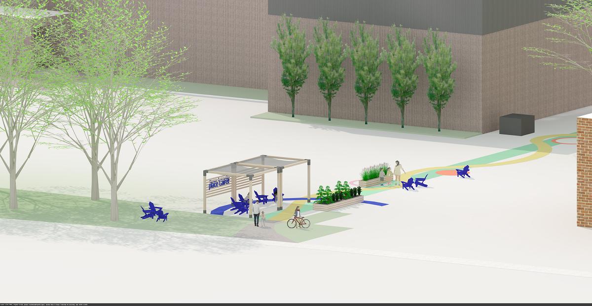 Place Lairet : une nouvelle place éphémère près du Patro Roc-Amadour - Julie Rheaume