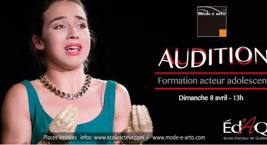 Audition | Acteur Adolescent