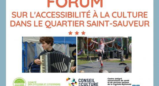 Forum sur l'accessibilité à la culture dans Saint-Sauveur