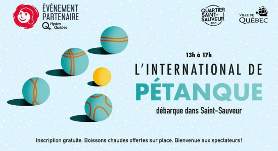 L'international de pétanque débarque dans Saint-Sauveur!