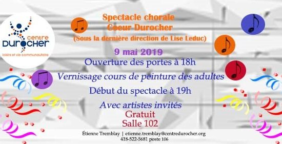 Spectacle Coeur Durocher