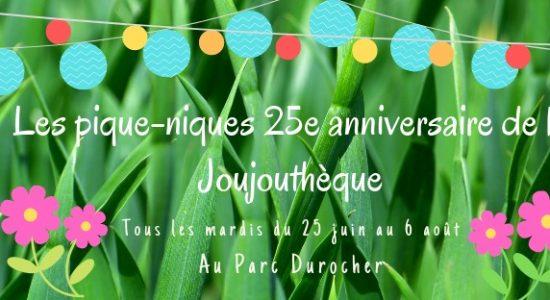 Pique-nique 25e anniversaire de la Joujouthèque