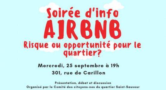 Soirée d'information sur Airbnb