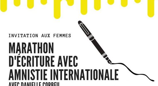 Marathon d'écriture d'Aministie Internationale