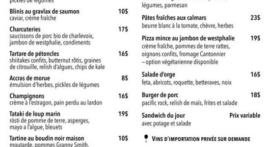 Livraison et take-out | Fin Gourmet
