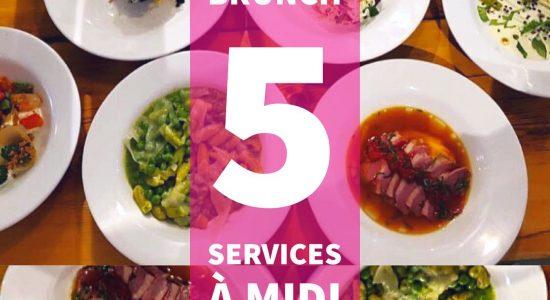 Brunch 5 services   Renard et la chouette (Le)