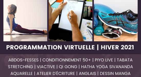 Programmation virtuelle de sports et de loisirs – Hiver 2021