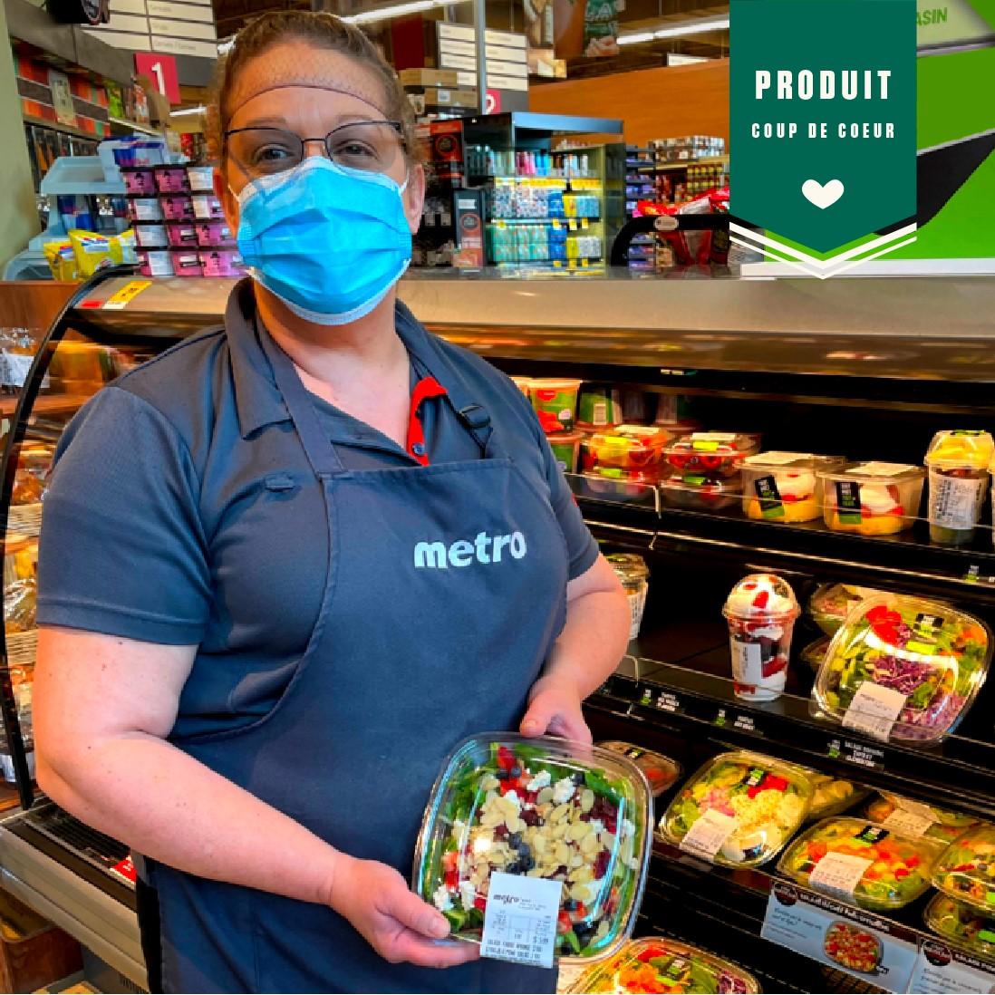Salade aux fraises et aux amandes | Métro Ferland