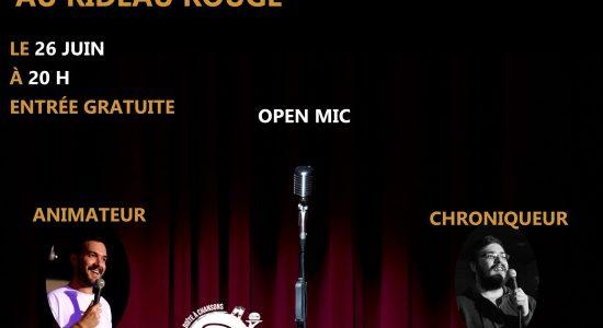 Open Mic au Rideau Rouge!