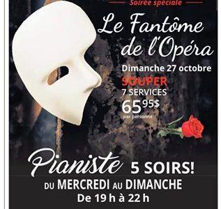 La fantôme de l'Opéra   Soirée spéciale