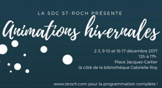 Animations hivernales dans Saint-Roch