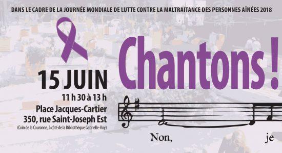 Chantons! Journée mondiale de lutte contre la maltraitance