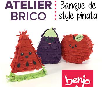 Atelier brico – Banque de style pinata
