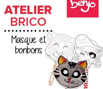 Atelier brico • Masque et brochette de bonbons