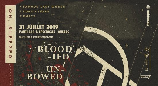Oh, Sleeper avec Famous Last Words, Convictions et Empty