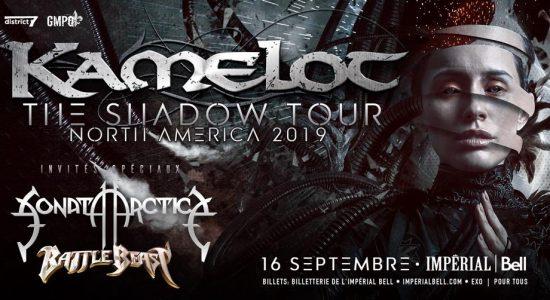 Kamelot avec Sonata Arctica et Battle Beast