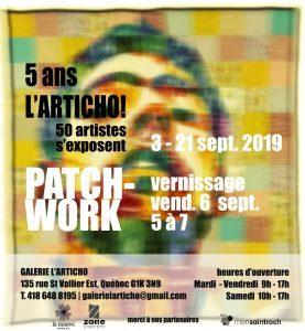 Exposition collective PATCHWORK : la galerie L'ARTICHO fête ses 5 ans!