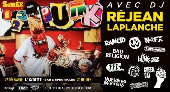 Soirée 123 Punk avec DJ Rej Laplanche