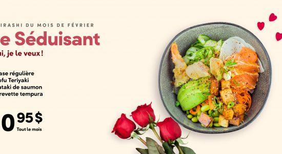 Chirashi mois de fevrier | Ogari-San Sushi