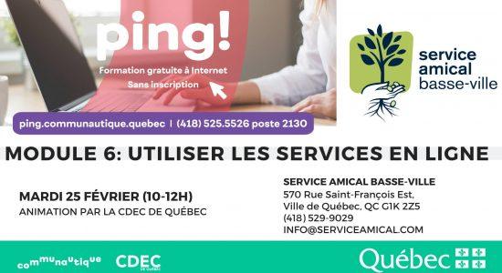 PING! Module 6 Services en ligne au SABV