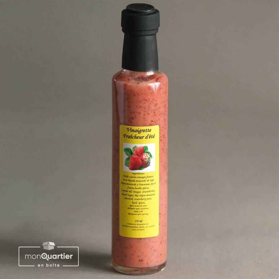 Vinaigrette fraise et pesto