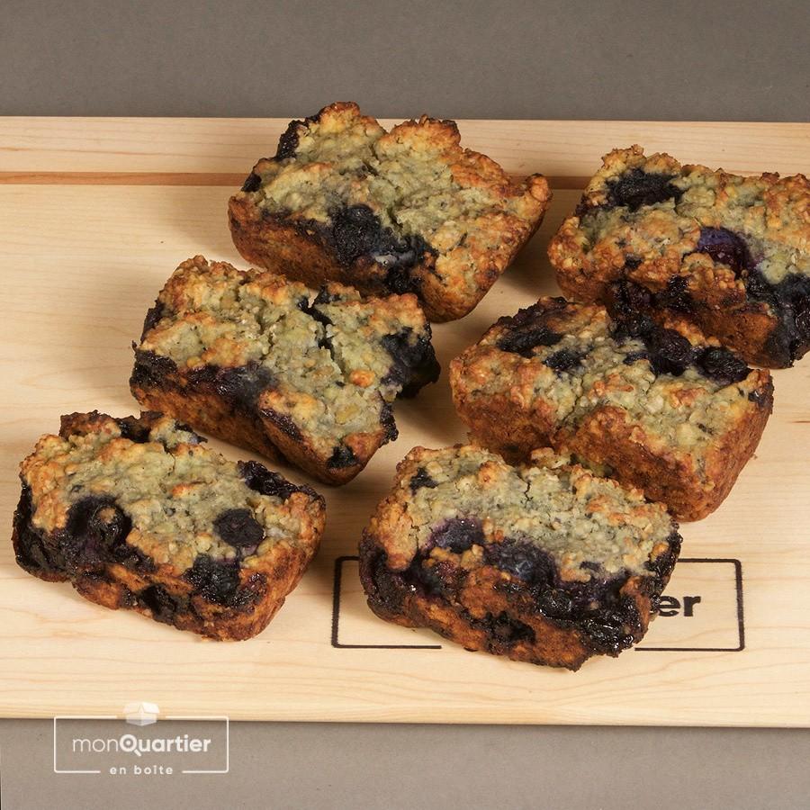 Muffin aux bleuets proteinés