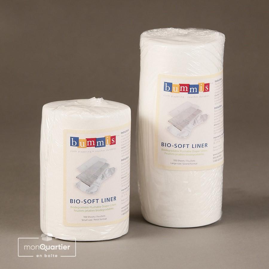 Feuillets biodégradables pour couches lavables