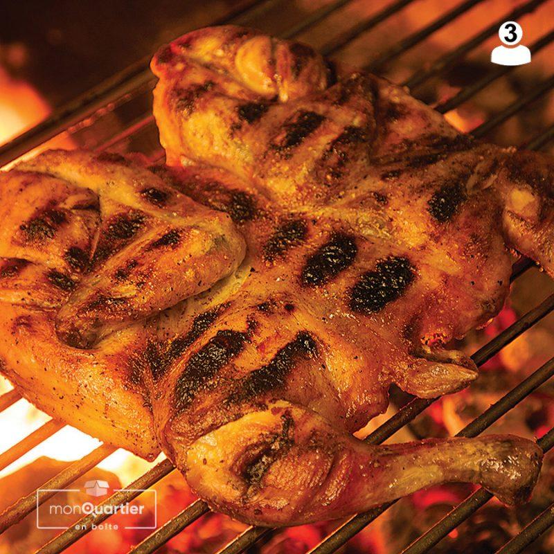 Boite poulet grillé
