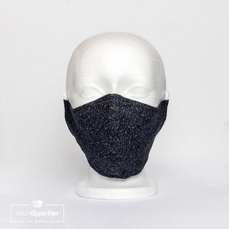 Masque facial en tissu 2 plis