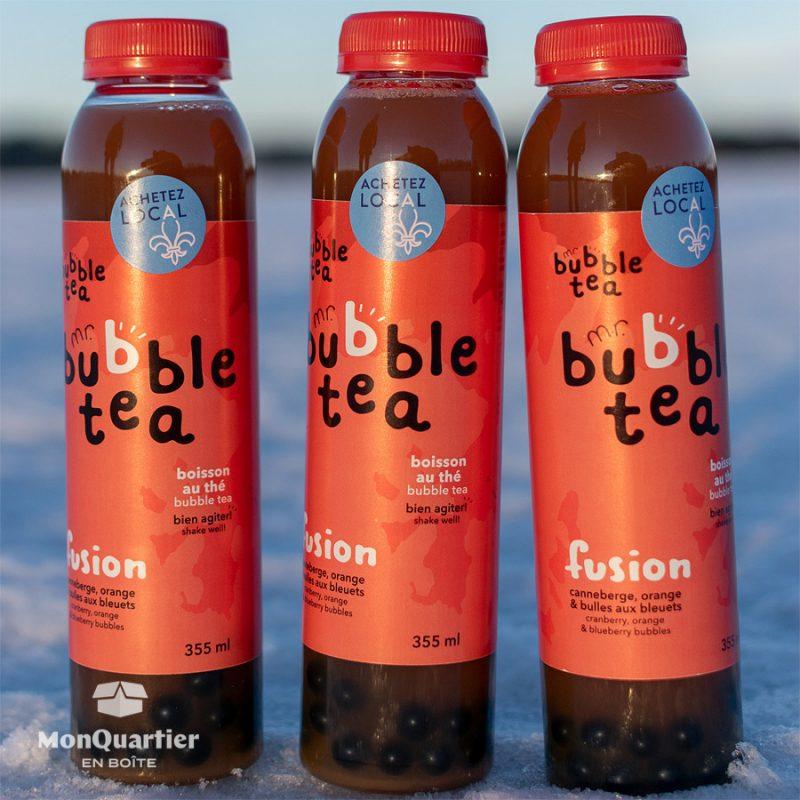 Bubble Tea Fusion - canneberge, orange et bleuets