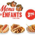 Nouveau menu enfants | Valentine Limoilou
