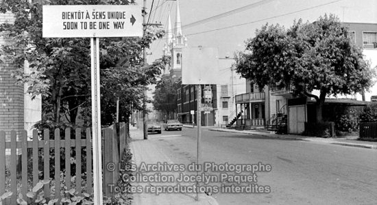 Limoilou dans les années 1960 (79) : «&nbsp;Sens unique &#8211; <em>One way</em>&nbsp;» - Jean Cazes