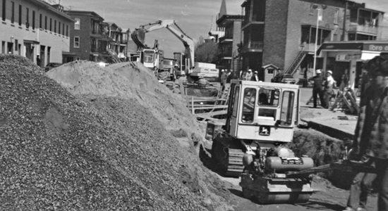 Limoilou dans les années 1970 (25) : réfection de la 4e Avenue - Jean Cazes