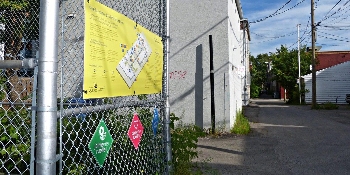Revitalisation des ruelles du Vieux-Limoilou: à la découverte de la «ruelle-démonstration» | 26 juillet 2017 | Article par Raymond Poirier