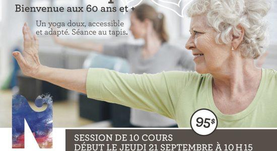 Yoga adapté + 60 ans et plus
